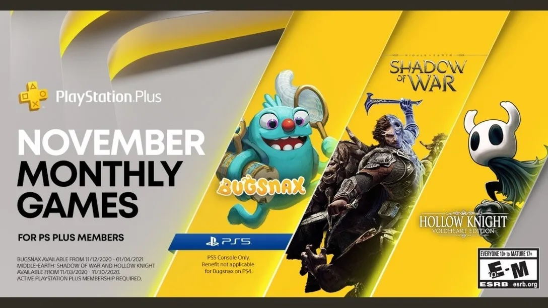 Playstation plus November 2020 ps5 game